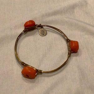 Orange stone Bourbon and Bow ties Bracelet